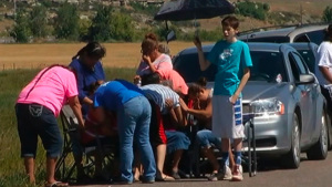 According to the FBI a family pulled over to help a driver on the side of the road and was gunned down. The suspect, 18-year-old Jesus Deniz Mendoza, is expected in federal court Friday. (Credit: KTVQ)