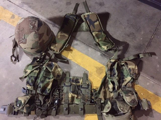 Combat helmet and tactical vest worn by Aziz to church in Texas. (Photo: Smith County Sheriff's Office)