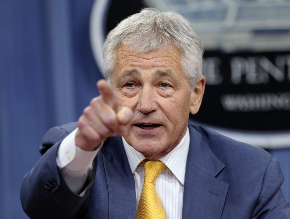 Defense Secretary Chuck Hagel speaks during a news conferene at the Pentagon, Wednesday, June 26, 2013. Hagel, following the Supreme Court ruling that same-sex couples should get the same federal benefits as heterosexual couples, said the Pentagon would begin the process to extend benefits to the same-sex spouses of military members as soon as possible. (AP Photo/Susan Walsh)