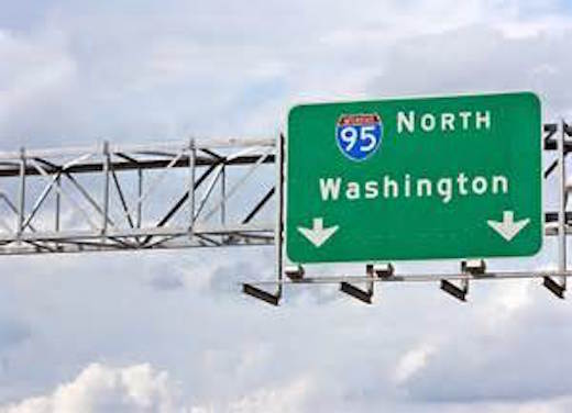 WashingtonDC highway sign