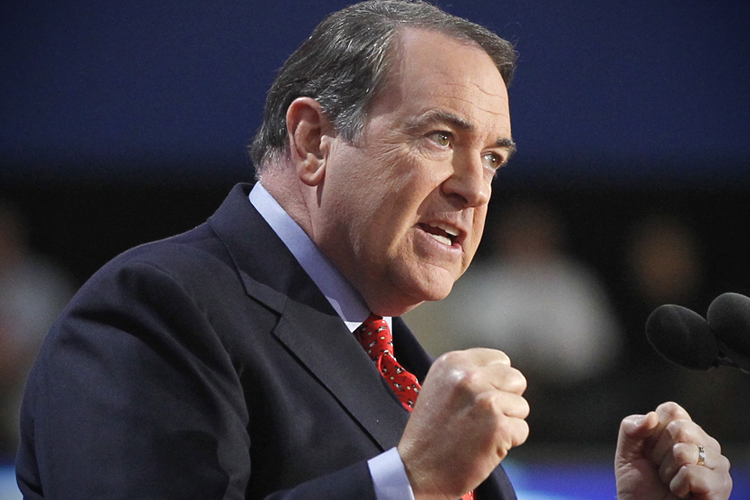 Former Arkansas Governor and former Republican presidential candidate Mike Huckabee speaks during the third session of the Republican National Convention in Tampa, Florida August 29, 2012. REUTERS/Jason Reed (UNITED STATES  - Tags: POLITICS ELECTIONS)   - RTR379BK