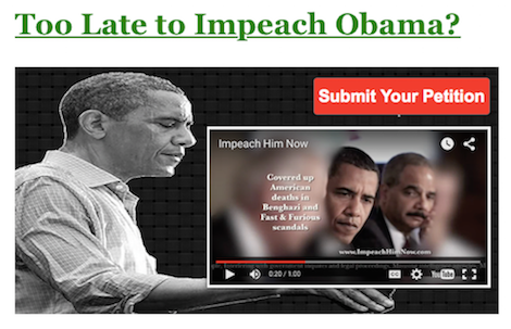 Too Late to Impeach Obama - Graphic