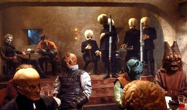 Bar Room Scene from 'Star Wars' Film, Screenshot