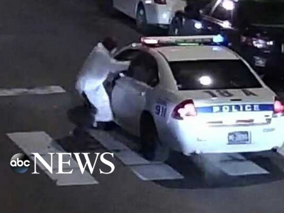 PHOTO: Officials say a suspect fired 13 shots at Philadelphia police officer Jesse Hartnett while he was in his police vehicle.