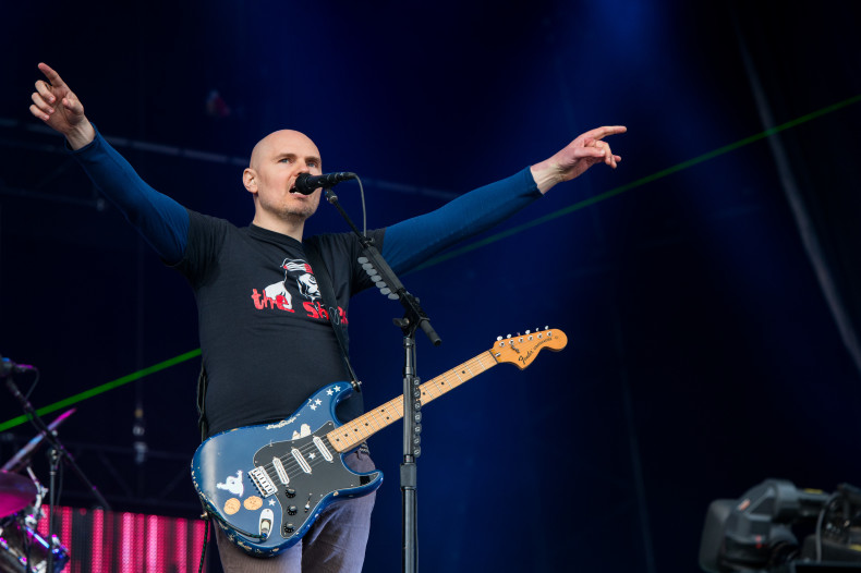 GLASTONBURY, ENGLAND - JUNE 30: Billy Corgan of the Smashing Pumpkins performs on the Other Stage during day 4 of the 2013 Glastonbury Festival at Worthy Farm on June 29, 2013 in Glastonbury, England. (Photo by Ian Gavan/Getty Images)