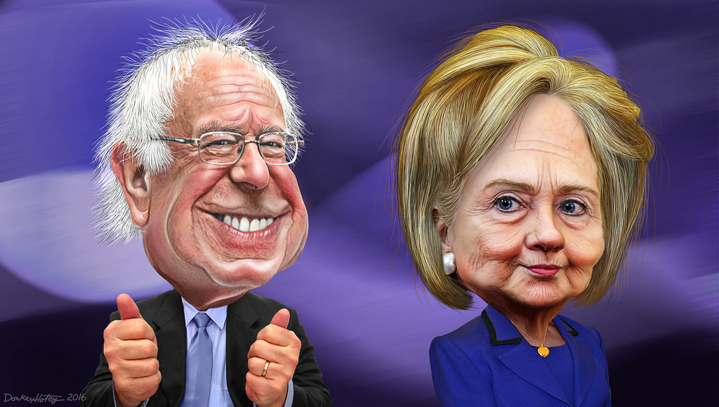 Bernie and Hillary freeuse
