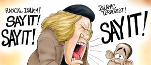 If Sam Kinison Were Still Alive…  Say Radical Islam!  Say it! | Political Cartoon |