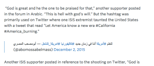 ISIS Celebrates Terror Attack With #America_Burning
