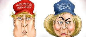 Trump vs Clinton | Political Cartoon