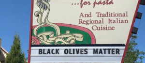 Restaurant selling 'Black Olives Matter' T-shirts